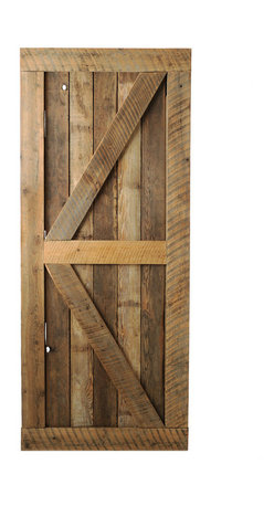 Big Sky Barn Doors - Big Horn Door, Unfinished, 50x81 - The Big Horn Door is als known as a British Brace, handcrafted from reclaimed Montana barnwood. Each Big Sky Barn Door is shipped completely assembled and ready to hang.     Due to the nature of antiqued reclaimed lumber, each door is unique in character and appearance.  Colors might vary slightly as well as wood grains, knots, nail holes, etc... Every door is handcrafted and inspected for quality assurance.    Hardware is not included.