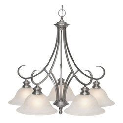 Illumine - Illumine Chandeliers 5-Light Pewter Chandelier with Marbled Glass Shade - Shop for Lighting & Ceiling Fans at The Home Depot. The cornerstone of the Illumine Collection is quality and this incandescent chandelier is no exception. Combining a classic pewter finish and posh styling you will find no better way to highlight the charm of your home. With the superb craftsmanship and affordable price this fixture is sure to tastefully indulge your extravagant side.