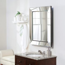 Single Door Radiance Surface Mount Contemporary Medicine Cabinet - This gorgeous mirrors totally conceals the medicine cabinet.