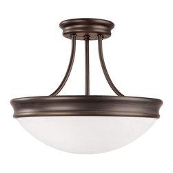 Capital Lighting - Capital Lighting Transitional Semi Flush Mount Ceiling Light X-RO7302 - Capital Lighting Transitional Semi Flush Mount Ceiling Light X-RO7302
