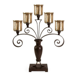 IMAX CORPORATION - CKI Spiral Table Top Candelabra - CKI Spiral Table Top Candelabra. Find home furnishings, decor, and accessories from Posh Urban Furnishings. Beautiful, stylish furniture and decor that will brighten your home instantly. Shop modern, traditional, vintage, and world designs.