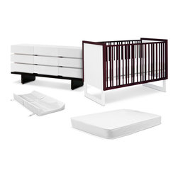 Nurseryworks Loom Nursery Bundle - Building a nursery has never been easier with this special nursery bundle.  Featuring the Nurseryworks classic, shaker-inspired Loom Crib, paired with the Three-Wide Dresser, a Twilight Crib Mattress, and a Contour Changer Pad for a special bundle price of $999!.