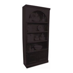 EuroLux Home - New Bookcase Walnut Painted Hardwood Classic - Product Details