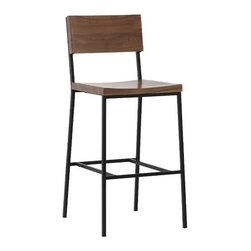 Rustic Bar Stool + Counter Stool - I came across this new line of bar stools and immediately loved them. Great modern lines which could work in a mid-century century or a contemporary setting, even rustic.