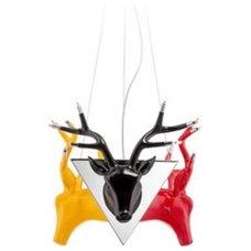 Stellan Chrome with Multicolored Deer Halogen Pendant Light - Euro Style Lightin