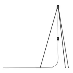 VITA - Tripod Matt Black, E26-60W 10 Feet Black Textile Cord - This Tripod Includes 10 Feet Of Textile Cord, Switch, Plug And E26 Socket.