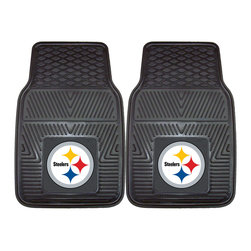 Fanmats - Fanmats Pittsburgh Steelers 2-piece Vinyl Car Mats - Protect your cars floors with these vinyl car mats. This two-piece mat set features a universal fit, making it perfect for cars, trucks, SUVs, and even RVs. These mats come with the Pittsburg Steelers design so you can show your team spirit.