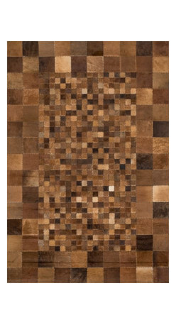 "Loloi Rugs - Loloi Rugs Tahoe/Hemingway Collection - Saddle, 5' x 7'-6"" - The rugged elegance of the Tahoe Collection is perfectly suited for a variety of settings from a cozy cabin to a chic southwestern loft. Comprised of a variety of unique patterns, the collection is constructed from 100% cowhide and hand stitched in China."