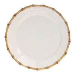 "Juliska - Juliska Classic Bamboo Round Charger Plate Natural - Juliska Classic Bamboo Round Charger Plate Natural. A clean modern shape is encircled with the timeless aesthetic of bamboo for a look that translates across continents. Use this chic plate as a serving platter for appetizers or as a cake plate. Dimensions: 14"" W"