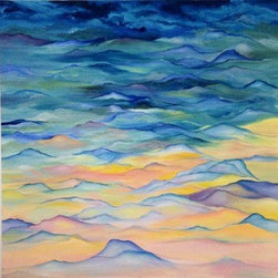 """""""Spectrum"""" (Original) by Jessa Little - This piece represents the only true abstract piece that I have tackled. It takes the layers of my thoughts and actions and develops them into a serene and calm atmosphere."""