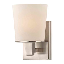 Dolan Designs - Dolan Designs 1096-09 Ellipse Satin Nickel Wall Sconce - Dolan Designs 1096-09 Ellipse Satin Nickel Contemporary Wall Sconce