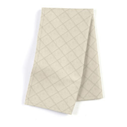 Warm Gray Pintuck Custom Napkin Set - Our Custom Napkins are sure to round out the perfect table setting'whether you're looking to liven up the kitchen or wow your next dinner party. We love it in this lightweight solid light taupe cotton with textured pintucks in a small diamond pattern.