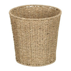 Seagrass Waste Basket, Natural - Forget plastic waste baskets. This Seagrass waste basket is way more ecofriendly. It's made from natural seagrass, and its breathable fibers do not trap odor like plastic bins do. It's also a natural, neutral color that will blend in with existing decor.