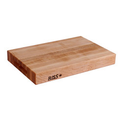 """John Boos - Boos Maple Cutting Block with Finger Grips - 2.25"""" Thick - John Boos reversible cutting board. Three sizes: 18 x 12, 20 x 15, 24 x 18. Edge-grain maple butcher block. NSF-certified for food service applications."""