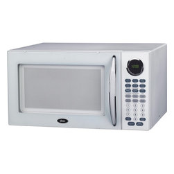 Oster - Oster OGB81101 White Digital Microwave Oven - The Oster Digital Microwave Oven features ten variable power levels for customized cooking and six convenient cooking functions. The easy 1-touch cooking is great for popcorn,potatoes,pizza,beverages,frozen dinners,and reheating.