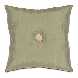 """Frontgate - Brenn 20"""" sq. Decorative Pillow - From Eastern Accents. Dry clean only recommended. 20"""" sq.. Because this bedding is specially made to order, please allow 4-6 weeks for delivery.. The Brenn Bedding Collection is refreshing in ivory and pearl tones paired with cool pistachio accents.  .  . . . Made in Italy. Part of the Brenn Bedding Collection."""