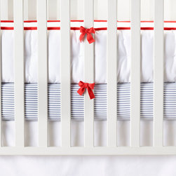 """Serena & Lily - Serena & Lily Nursery Basics Crib Bumper - The perfect backdrop for color and pattern, our versatile crib bedding works well with practically everything. Add any of our patterned crib sheets to create the look (or looks) you love.  One-piece, hand-tufted white crib bumper, with contrast piping and twill tape ties.  White bumper has white piping and twill tape ties. 100% cotton twill.  Machine wash.  Imported.  Insert is not removable.  156""""L x 11. 5""""H overall."""