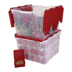 Christmas village decorations storage bins boxes find for Village craft container home