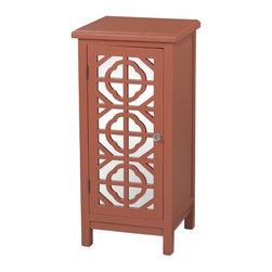 Sterling Industries - Vivienne-Single Door Mirrored Cabinet In Burnt Orange - Vivienne-Single Door Mirrored Cabinet In Burnt Orange