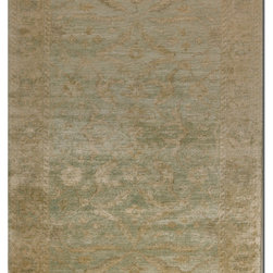 Uttermost - Anna Maria New Zealand Wool Rug - Nothing else comes close to the warmth and softness of New Zealand wool. One tootsie test and you'll never turn back. And why would you, when you can have this beautiful washed pale blue and golden ivory rug underfoot. Your traditional living room (and tired feet) will thank you.