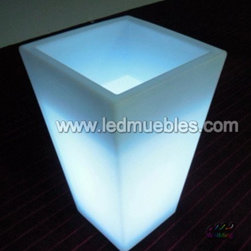 LED Illuminate Flower Pot - 1. Waterproof,PE material