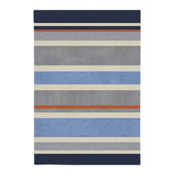 "Surya - Kids Chic 4'10""x7' Rectangle Gray-Light Blue  Area Rug - The Chic area rug Collection offers an affordable assortment of Kids stylings. Chic features a blend of natural Gray-Light Blue  color. Hand Tufted of 100% Polyester the Chic Collection is an intriguing compliment to any decor."