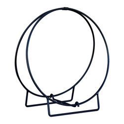 Uniflame - Black Metal Hoop Log Rack - 36-Inches Round - * Convenient and Stylish Storage. Sleek Black Finish. 36 in. W x 39 in. H