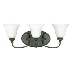 Nuvo Lighting - Nuvo Lighting 60-1108 Bistro 3-Light Wall Vanity with Satin Opal White Glass - Nuvo Lighting 60-1108 Bistro 3-Light Wall Vanity with Satin Opal White Glass