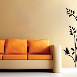 StickONmania - Plant Design #4 Sticker - A cool vinyl decal wall art decoration for your home  Decorate your home with original vinyl decals made to order in our shop located in the USA. We only use the best equipment and materials to guarantee the everlasting quality of each vinyl sticker. Our original wall art design stickers are easy to apply on most flat surfaces, including slightly textured walls, windows, mirrors, or any smooth surface. Some wall decals may come in multiple pieces due to the size of the design, different sizes of most of our vinyl stickers are available, please message us for a quote. Interior wall decor stickers come with a MATTE finish that is easier to remove from painted surfaces but Exterior stickers for cars,  bathrooms and refrigerators come with a stickier GLOSSY finish that can also be used for exterior purposes. We DO NOT recommend using glossy finish stickers on walls. All of our Vinyl wall decals are removable but not re-positionable, simply peel and stick, no glue or chemicals needed. Our decals always come with instructions and if you order from Houzz we will always add a small thank you gift.
