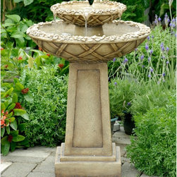 Jeco - Jeco Water Outdoor Bird Bath Fountain - FCL057 - Shop for Garden Bird Baths from Hayneedle.com! About Jeco IncWhether it's a timeless traditional design you're looking for or something more modern and contemporary Jeco Inc. likely has something to suit your relaxation needs. Offering numerous types of patio furniture indoor furniture water fountains home decor and pet products the company formed in 2009 works with designers that search the world for inspiration and create innovative yet functional products that are built with quality and durability.