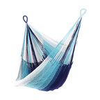 Yellow Leaf Hammocks - 'Samui' Hanging Chair Hammock - Inspired by the blue waters and white sand beaches of the blissful Thai island, our 'Samui' Hanging Chair is 100% handcrafted by artisan weavers for maximum comfort.