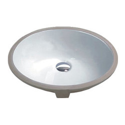 Hahn - Hahn Ceramic Bathroom Medium Oval Bowl (UM), White - This Hahn sink is composed of beautiful white ceramic and porcelain. The smooth oval piece has an undermount style and is 6.5 inches deep to add a gentle elegance to the bathroom.