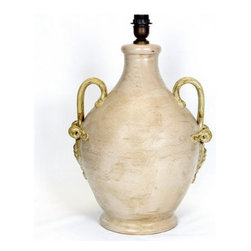 Artistica - Hand Made in Italy - Tuscan Lamp: Xtra Large with Two Handles - Artistica's lamps are fully hand made in Tuscany-Italy.