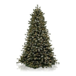 Balsam Hill Frosted Sugar Pine Artificial Christmas Tree - A KISS OF SNOW ON BALSAM HILL'S FROSTED SUGAR PINE CHRISTMAS TREE |