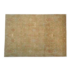 1800-Get-A-Rug - Oriental Rug Hand Knotted Rug Ikat Design Sh13101 - About Wool Pile