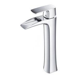 Fresca - Fresca FFT3072CH Fortore Single Hole Vessel Mount Bathroom Vanity Faucet - CH - Fresca FFT3072CH Fortore Single Hole Vessel Mount Bathroom Vanity Faucet - Chrome