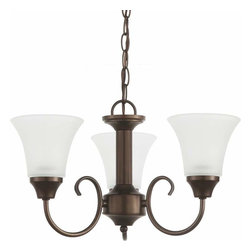 Sea Gull Lighting - 3-Light Chandelier Bell Metal Bronze - 31806-827 Sea Gull Lighting Holman 3-Light Chandelier with a Bell Metal Bronze Finish