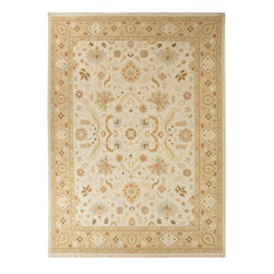 Jaipur Rugs - Hand-Knotted Oriental Pattern Wool Ivory/Taupe Area Rug ( 4x6 ) - Originally a construction style developed in the Caucasian region, the Sumak rug is an organic, hand-knotted, flat-woven rug that India has made its own over the centuries. Traditional designs predominate this award-winning collection, but the Jaimak Collection combines the benefits of contemporary color and durable wool for rug styling that adds sophistication to any environment. Through its unique herringbone effect and distinctive double-sided pattern, Jaimak creates a luxurious look and feel far exceeding its economical price point.