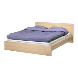 IKEA of Sweden - Malm Bed Frame, White Stained Oak - Duplicate the bed from the Minecraft game with a simple frame like the Ikea Malm frame.