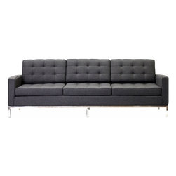 LexMod - Florence Style Sofa in Dark Gray Wool - The mid-20th century was a time when hopes were at their highest. Technological developments were bustling forward, and the new world was just barely visible in the distance. But this time also presented a dilemma of sorts. The test of this forthcoming era was to be whether industry would foster comfort or stifle it.