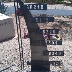 Artisan Address Sign - Artisan Address Sign..... Designed by Desert Designers Landscape Architects