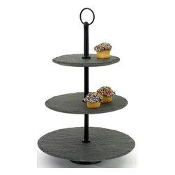 Go Home Ltd - Go Home Ltd Round Slate Fruit Stand X-79381 - Go Home Ltd Round Slate Fruit Stand X-79381
