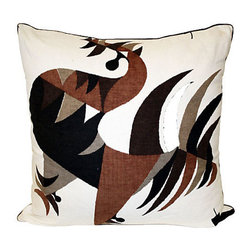 Acapillow - 1950s Abstract Print Pillow - Does your brown sofa need a style boost? Nothing crazy, maybe just a few cool, art-inspired pillows to add some visual interest. This 1950s abstract print pillow gives your furniture an instant update and a significant dose of hipness.