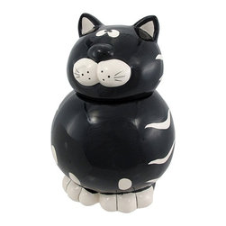 Young's Ceramic Cat Cookie Jar - Geez, this cat even looks guilty.