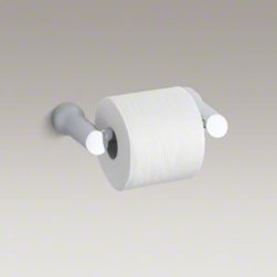 Kohler Toobi Toilet Paper holder K-5672 - Inspired by the peaceful, balanced beauty of Asian gardens, Toobi accessories complement both traditional and modern bathrooms. This toilet tissue holder highlights this beauty with just a touch of playfulness drawn from the exuberant spirit of popular culture.