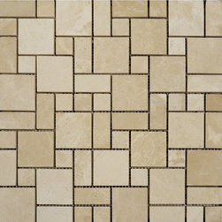 STONE TILE US - Stonetileus 30 pieces (30 Sq.ft) of Mini French Pattern Botticino Polished - Mini French Pattern Botticino Specifications: Coverage: 1 Sq.ft size: French Pattern - 1 Sq.ft/Sheet Sheet mount:Meshed back Stone tiles have natural variations therefore color may vary between tiles. This tile contains mixture of Ivory - light brown - yellow - white and color movement expectation of low variation, This natural stone Mosaic comes with the convenience of high quality and easy installation advantage. This tile has polished surface, and this makes them ideal for walls, kitchen, bathroom, outdoor, Sheets are curved on all four sides, allowing them to fit together to produce a seamless surface area. Recommended use: Indoor - Outdoor - Low traffic - Recommended areas: Mini French Pattern Botticino - Polished tile ideal for walls, kitchen, bathroom,Free shipping.. Set of 30 pieces, Covers 30 sq.ft.