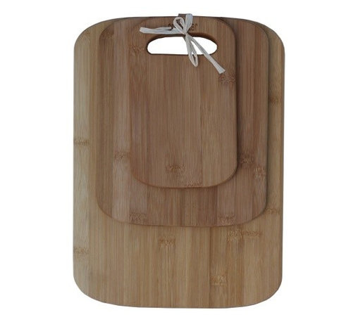 Oceanstar - Oceanstar 3-Piece Bamboo Cutting Board Set - Keep your countertops scratch free and make your food preparation more convenient and safe with the eco-friendly Oceanstar cutting board set. The set comes in 3 versatile sizes for every cutting task. You can prepare fruits on the small cutting board to serve houseguests, cut vegetables on the medium sized board, or carve meat on the large sized board. Save time while prepping food and prevent cross-contamination with the Oceanstar 3 Piece cutting board set. The light-weight cutting boards are easy to maintain and store in any space. With its light-weight and elegant round edged design, you can even use the cutting boards as a tray to present finger foods, cheese, or small snacks for your houseguests. The Oceanstar 3 Piece Cutting Board Set is handy, multi-functional, and convenient for any cutting tasks and preparation. How to clean: We recommend hand washing the boards softly with a sponge or towel using warm water and light soap.