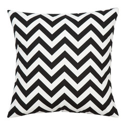 Look Here Jane, LLc - Chevron Black Pillow Cover - PILLOW COVER