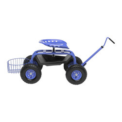 Gardener's Supply Company - Garden Scooter, Blue - Tractor Scoot lets you enjoy gardening without straining your back or legs. The super convenient, back-saving maneuverable Tractor Scoot is New & Improved thanks to customer feedback! A customer favorite that lets you work from a seated position virtually anywhere in your garden. More comfortable and easier to use than ever before.
