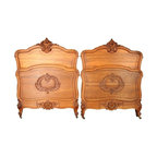EuroLux Home - Pair Consigned Antique French Twin Beds 1900 Louis XV - Product Details